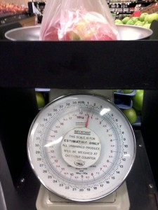 When was the last time you weighed your produce?